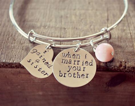 Sister of the Groom Gift, Sister In Law Bracelet