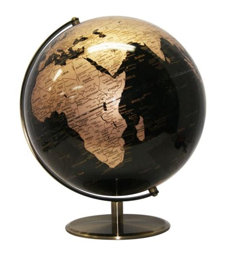 black and gold l heritage black and gold 30cm globe