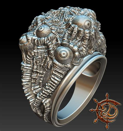 zbrush tutorial jewelry zbrush jewelry al azif inspired ring skull silver