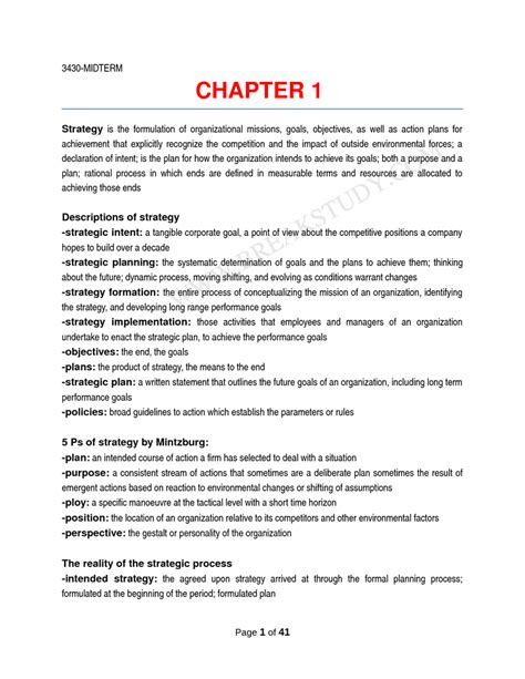Hrm Lecture Notes For Mba by Hrm 3430 Lecture Notes 41 Pages Breakstudy