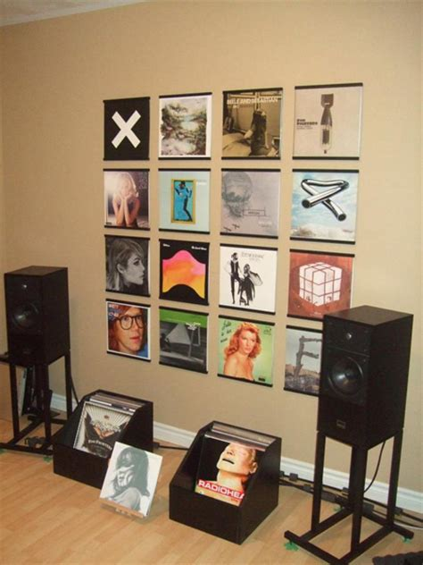 vynal room image gallery records on walls