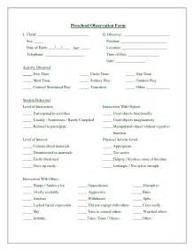 best photos of printable observation forms for