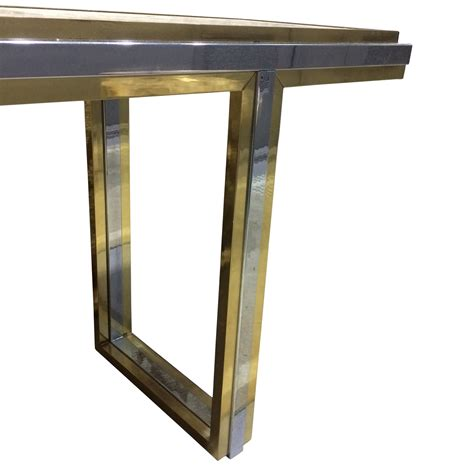 Brass Console Table Balsamo Antiques Mid Century Travertine And Brass Console Table