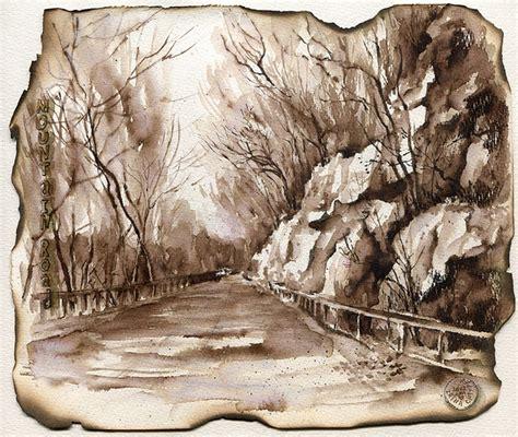 sepia ink art pinterest