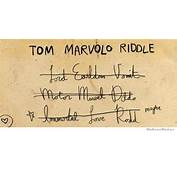 Tom Riddle Trying To Come Up With An Anagram For His Name