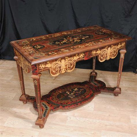 Tuscan Couches by Italian Marquetry Inlay Console Table Tables Tuscan