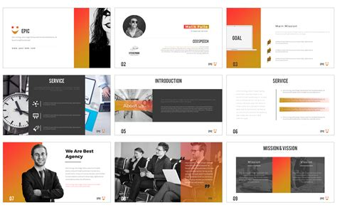 templates powerpoint original epic powerpoint presentation powerpoint template 64442