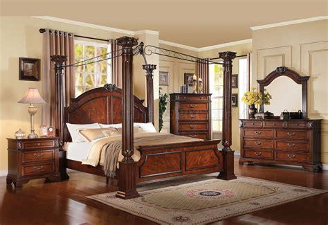 roman bedroom 23340 roman empire iii bedroom in dark cherry by acme w