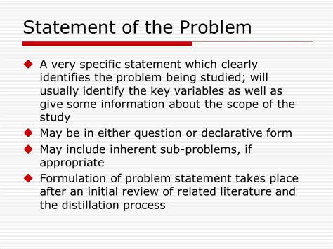 problem statement for thesis thesis statement of the problem exle 28 images