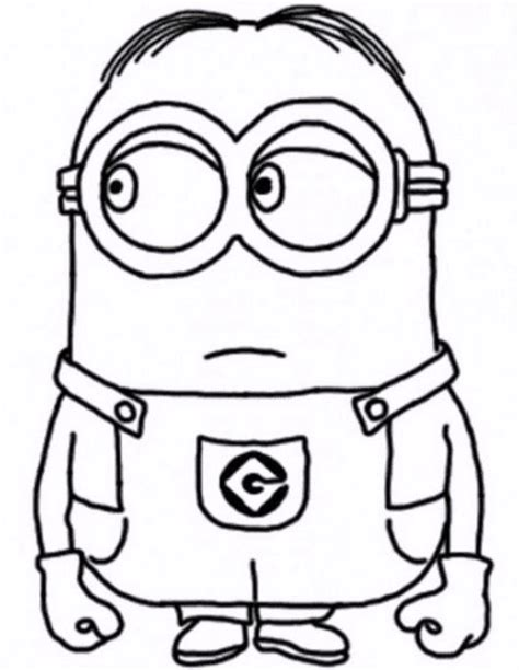 coloring pages minions cute 4 cute minions coloring pages