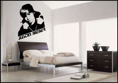justin bieber wall stickers justin bieber wall sticker bedroom vinyl decal mural