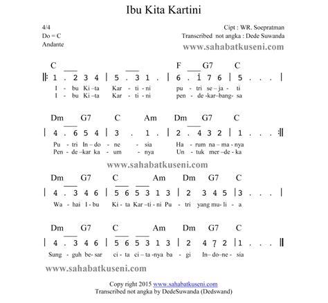 belajar kunci gitar dan lirik lagu chord lagu kunci c not angka dan chord lagu ibu kita