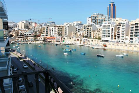 rent apartment st julians malta seafront spinola bay