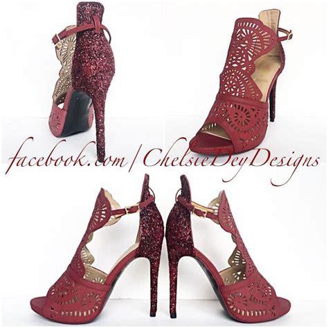 High Heels Glitter Maroon burgundy high heels glitter heels maroon shoes sparkly wedding shoes wine