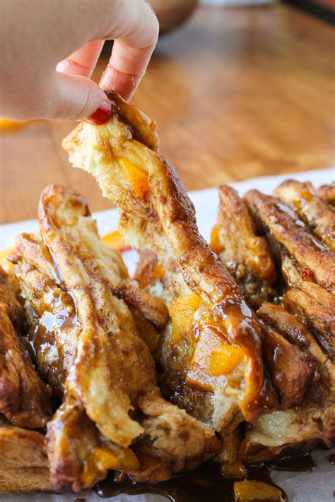 pull apart bread with caramel sauce the food charlatan