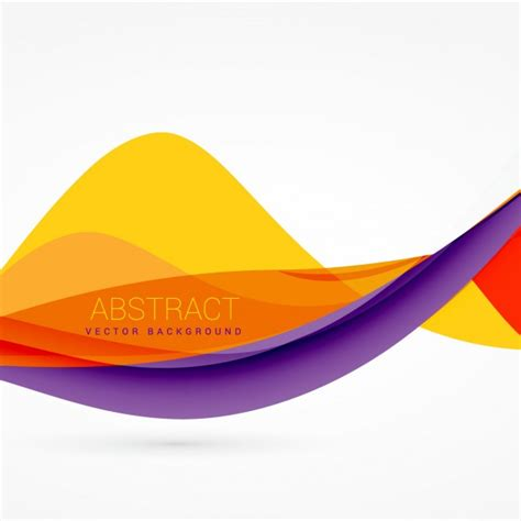 color designs purple and yellow color wave background design vector