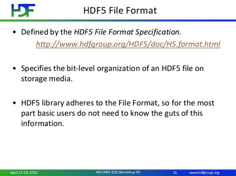 file format hdf5 introduction to hdf5 data and programming models