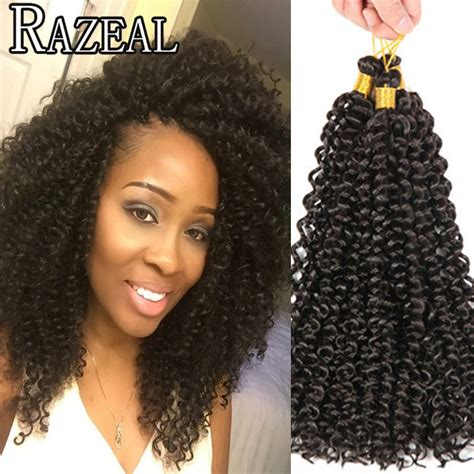 curly braiding hair extensions aliexpress buy razeal 14 quot crochet braids freetress