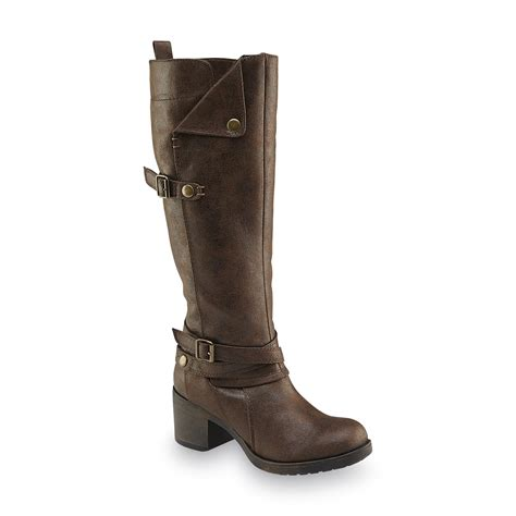 What Is Your Favorite Boot Height by S Sabato Brown Knee Height Boot Shop Your Way