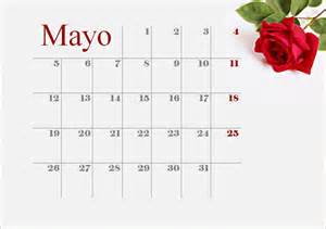Calendario Mes De Mayo Calendario Mayo