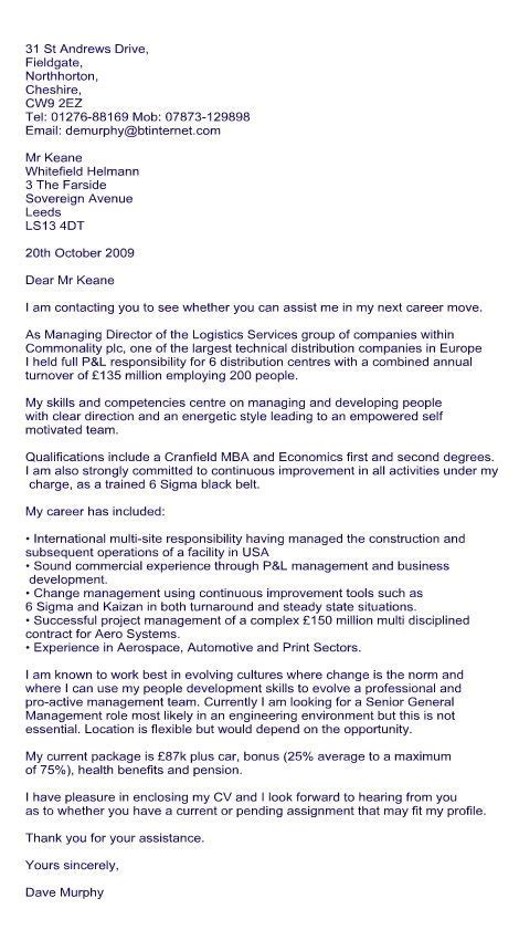 cover letter for recruitment agency sle cover letter for recruitment consultant