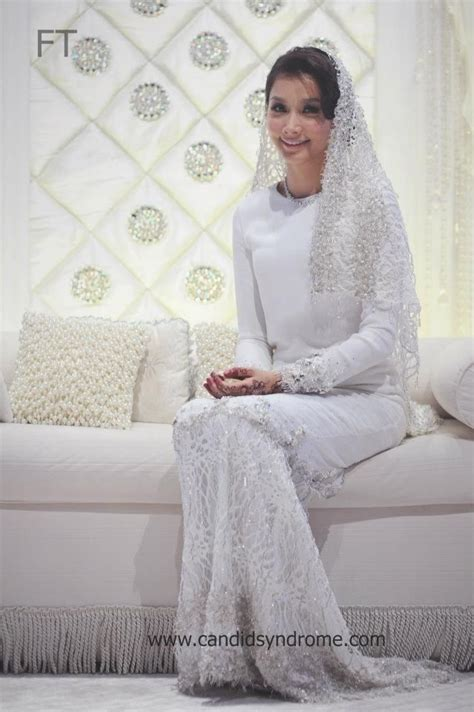 design vail pengantin baju nikah melayu wedding dress long sleeves scha alyahya