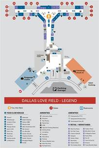 Dallas Airports Map by Dallas Love Field Airport Map