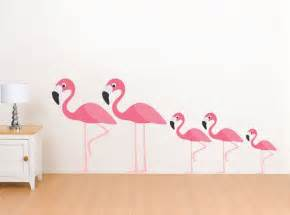 Flamingo Wall Stickers Flamingo Family Wall Decals Reusable Wall Stickers