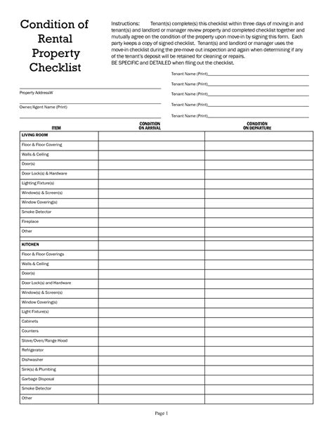 rental property inspection report template best photos of checklist form template sle checklist