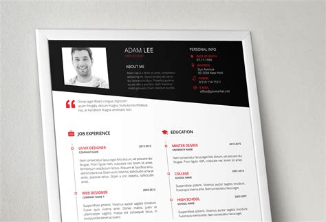 Resume Template Behance by Resume Template On Behance