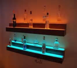 Bar Wall Shelves Led Lighted Liquor Shelves Illuminated Home Bar Displays