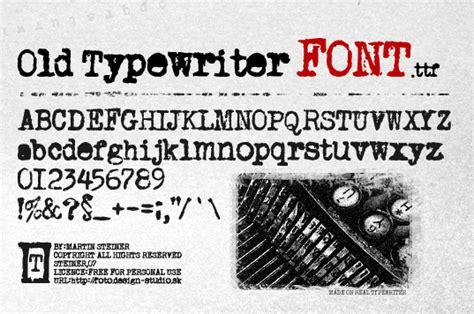 old typewriter font dafont com