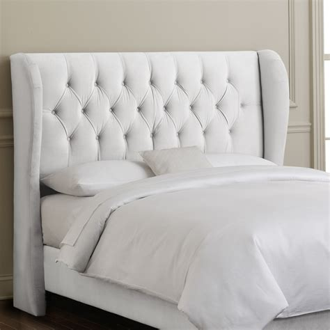 wing back headboard skyline furniture tufted wingback bed atg stores