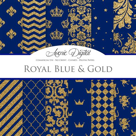 gold printable paper uk royal blue and gold digital paper scrapbook backgrounds prom