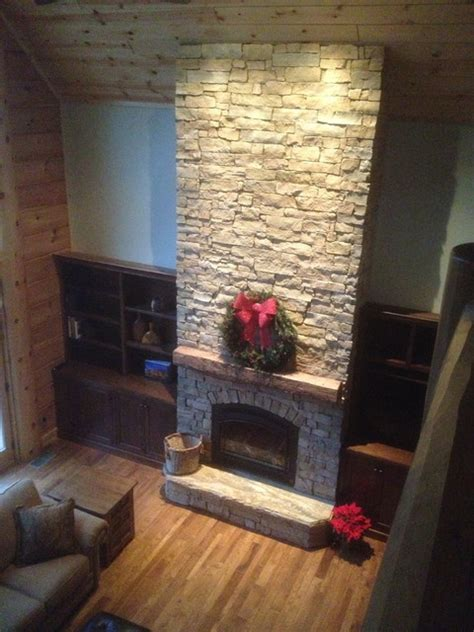 cathedral ceiling fireplace custom barn beam