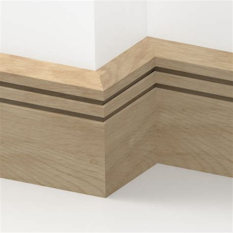 solid oak chamfered edge skirting 3 metre from