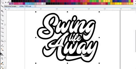cara membuat outline font cara membuat typography text di coreldraw ver 2 bangtax