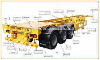 china wondee skeletal semi trailer of trailer truck buy skeletal semi trailer of trailer truck