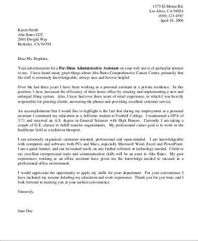 medical office administrator cover letter sample