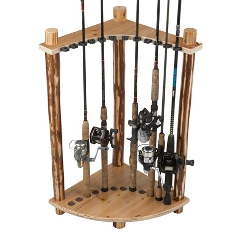 Corner Rack by 12 Fishing Rod Corner Rack 187 Creek Creations