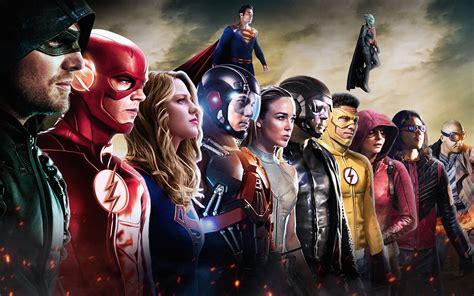 wallpaper dc comics superheroes dc tv crossover arrow