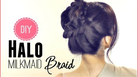 everyday hairstyles for medium hair for school hair tutorial everyday halo milkmaid braid for medium