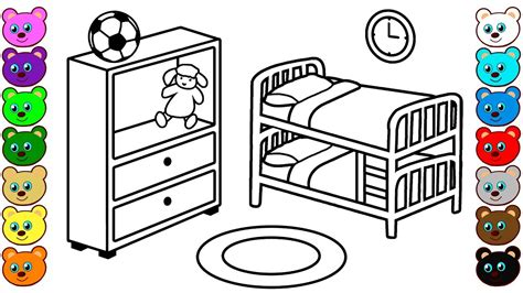 brother sister bedroom coloring pages  children
