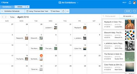Calendar Schedule View Images Introducing Calendar View Airtable