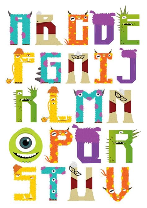 printable food fonts a fun and colorful font inspired by pixar s monsters