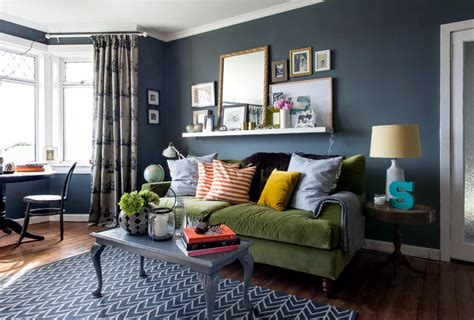 blue walls in living room gray blue wall in the living room interior design ideas