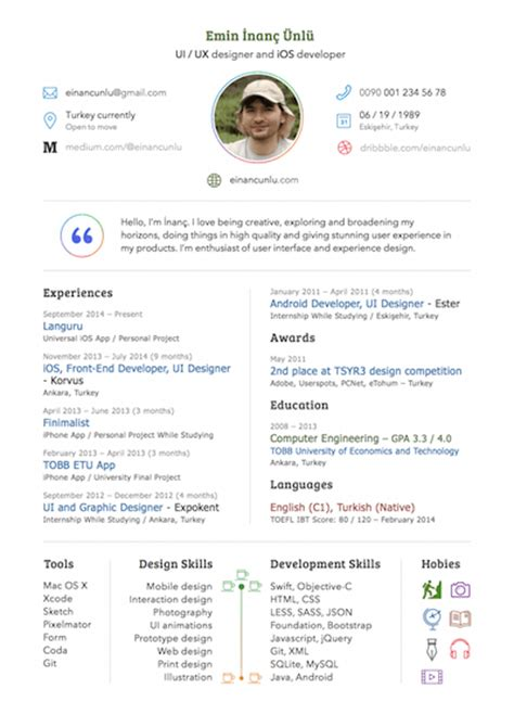 Sketch Resume Template Sketch Resume Or Cv Template Sketch Freebie Download Free Resource For Sketch Sketch App Sources