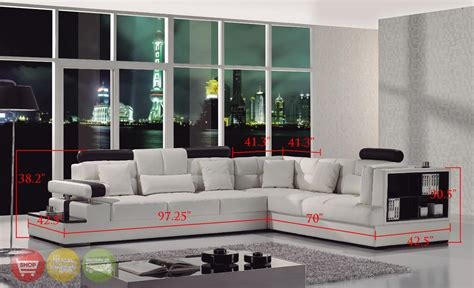 contemporary white sectional sofa contemporary black white italian leather sectional sofa