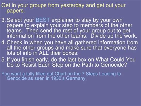 the path to genocide ppt the holocaust powerpoint presentation id 2762373