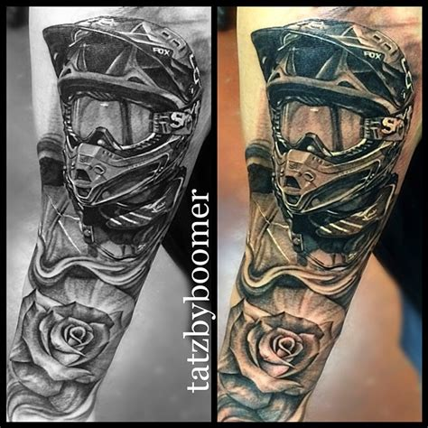 motocross tattoo motocross portrait by boomer